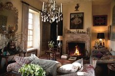 The interior designer creates comfortable, classically English rooms that his clients — including Prince Charles — say they never want to leave.