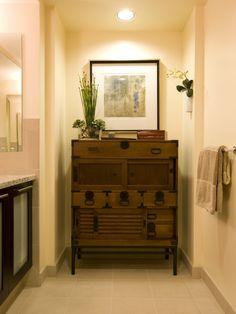 Asian Bathroom Design, Pictures, Remodel, Decor and Ideas Japanese Furniture, Funky Furniture, Home Furniture, Furniture Design, Asian Bathroom, Master Bathroom, Campaign Furniture, Interior Decorating, Interior Design
