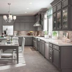 nice Modern Gray Kitchen Remodel and Design Ideas: 99 Gorgeous Photos http://www.99architecture.com/2017/03/07/modern-gray-kitchen-remodel-design-ideas-99-gorgeous-photos/