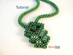 Cubic Right-Angle Weave (CRAW) Necklace/ Necklace Beading Pattern, Seed Bead Beading Tutorial, PDF- Lucky Charm Necklace Tutorial by TheBeadClubLounge on Etsy