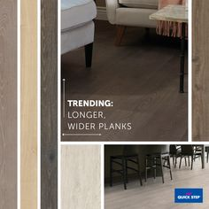 Now trending: longer wider planks | Veriluxe Collection, Quick•Step Laminate Floors