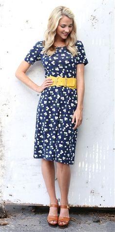 Floral Print Lori Dress by Mikarose | Trendy Modest Dresses | Mikarose Spring 2014 Collection