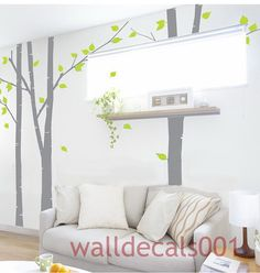 like these trees on a lighter wall ...  Vinyl Wall Decals Wall Stickers tree decals 3 100 by walldecals001, $86.00