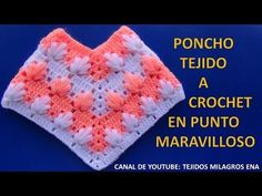 getlinkyoutube.com-Poncho tejido a crochet #4 en punto maravilloso paso a paso