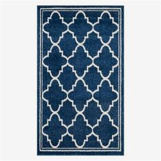 Willa Arlo Interiors Stodola Geometric Navy/Beige Indoor/Outdoor Woven Area Rug Rug Size: Rectangle x Indoor Outdoor Area Rugs, Indoor Outdoor Rugs, Outdoor Living, Contemporary Area Rugs, Modern Rugs, Geometric Throws, Patio Rugs, Types Of Rugs, Navy Rug