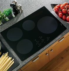 GE 30 Inch Induction Cooktop with 4 Induction Elements, Electronic Touch Controls, 19 Control Settings, Pan Presence/Size Sensors and ADA Compliant: Black Induction Stove, New Kitchen Designs, Kitchen Ideas, Kitchen Redo, Kitchen Inspiration, Kitchen Storage, Single Wall Oven, Electric Cooktop, Rgb Led
