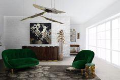Contemporary living room sets - Living room set by BRABBU Restaurant Design, Design Hotel, Design Shop, Design Design, House Design, Retro Interior Design, Interior Office, Interior Ideas, Contemporary Home Furniture