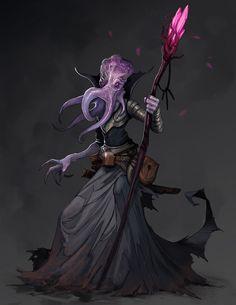 ArtStation - Illithid, Todd Ulrich Dark Fantasy Art, Fantasy Artwork, Fantasy Concept Art, Alien Concept, Fantasy Monster, Monster Art, Character Inspiration, Character Art, Character Design