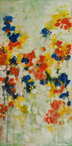 "Blossoms and Joy by Kajal Zaveri | $250 | 18""w x 36""h 
