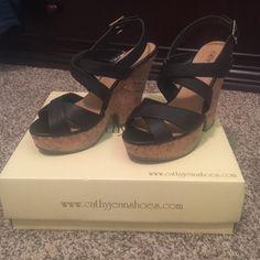Cathy jean black wedges. Size 7 1/2 Cathy Jean black wedges. Size 7 1/2. Cathy Jean Shoes Wedges