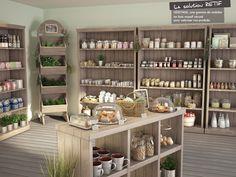 Héritage, mobilier de magasin tendance bois Gift Shop Displays, Store Displays, Bulk Store, Cosmetic Shop, Retail Store Design, Store Interiors, Cafe Shop, Shop Interior Design, Shelving