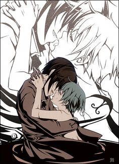 Black Butler- Ciel x Sebastian...im still not sure if i ship this but the pic is just soo well done!