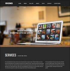 Rhino - Single Page Responsive Wordpress Theme #wordpress #responsive #theme #website #web #webdesign [$40]