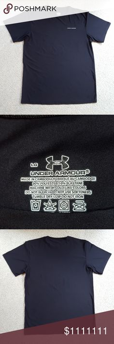 Under Armour top Black crew neck top. EUC! ❤From a smoke & pet free home❤ Under Armour Shirts