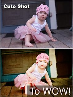 Photoshop tutorial...Baby photo transformed with photoshop actions
