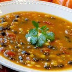 Pumpkin Black Bean Soup Allrecipes.com