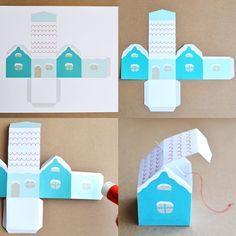 Décoration de Noël: Maison enneigée à imprimer gratuite   Blog Pluie de confettis