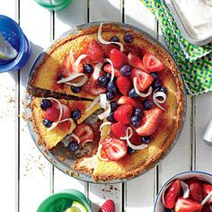 Whiskey Pie with Tipsy Berries Recipe