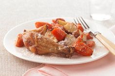Drumsticks, please! This Healthy Living Roasted Chicken and Vegetables recipe is so easy it could be part of a weeknight dinner menu.