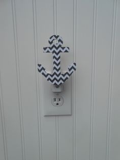 Anchor Night Light Nautical Night Light Anchor by LaurenAnnaLei from LaurenAnnaLei on Etsy.