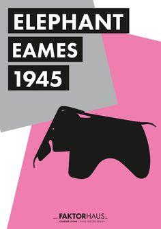 Charles & Ray Eames, Elephant, 1945 #eames #midcentury #1956 #vitra #miller #ray_and_charles_eames #designclassics #interior #home #furniture #elephant #eames_elephant www.faktorhaus.de