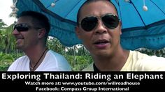 Exploring Thailand!  Riding an Elephant for the first time at a farm an ...