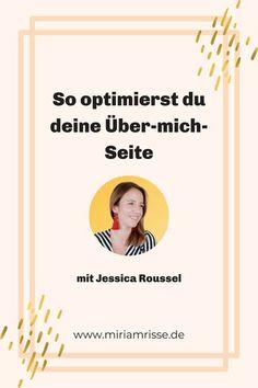 Jessica Roussel ist in meinem Textcoaching für ihre Website gewesen: In diesem Beitrag zeige ich dir, das Vorher und Nacher ihrer �ber-mich-Seite. Coaching, Ber, Entrepreneurship, Movie Posters, Female, Read News, Writing Tips, Resume, Landing Pages