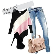 Pink and Black Duo-Tone Style  #ShopStyle #shopthelook #shop #pink #BevHillsMag