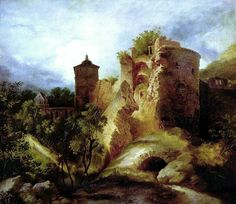Der gesprengte Turm des Heidelberger Schlosses (The Ruined Tower of Heidelberg Castle), 1830 - Carl Blechen