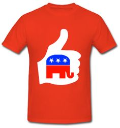 $12.99 #Elections #2012 #Republican #T-shirt #Red #Elephant #ThumbsUp