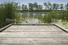 Segunda Marsh, Oshawa, en el muelle junto al lago – fotografía de stock libre de derechos