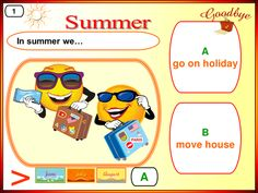 Summer Holidays, esl, summer, games. fun, vocabulary