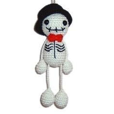 Halloween crocheted skeleton