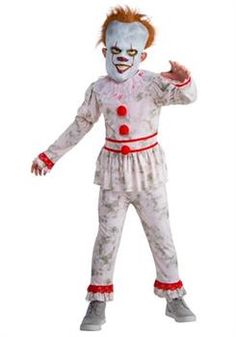 Evil Dancing Clown Child Costume - CostumePub.com Little Girl Rings, Rings For Girls, Girls Tea Party, Tea Party Hats, Red Clown Nose, Clown Mask, Halloween Kids, Spooky Halloween Costumes, Mardi Gras Costumes