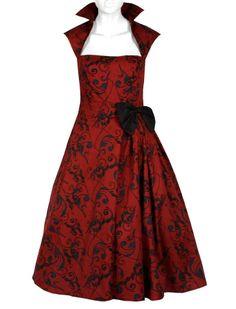 Belted Pleat Dress - Rockabilly Clothing - Online Shop für Rockabillies und Rockabellas