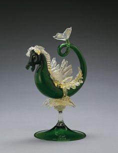 Sea Horse Sculpture, Corning Museum of Glass, Compagnia Venezia Murano, 1885 Glass Vessel, Glass Art, Corning Museum Of Glass, Corning Glass, Venetian Glass, Antique Glass, Horse Sculpture, Glass Animals, Italian Art