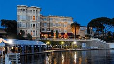 The graceful Belles Rives Hotel, on the picturesque Côte d'Azur is synonymous with all that is elegance and glamour on the French Riviera. Provence, Tender Is The Night, Palace Hotel, Antibes, Island Resort, South Of France, French Riviera, Interior Architecture, Seaside