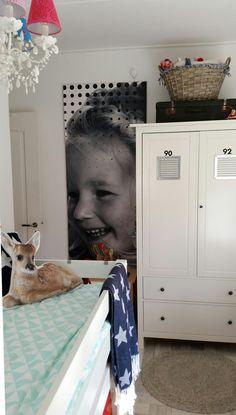 Slaapkamer met fotobehang