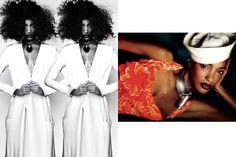 Jourdan Dunn by Mario Testino for V Magazine hair - Rudi Lewis