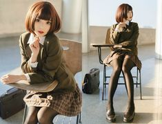 Best 9 Pin on Hot Flight Attendants – SkillOfKing. School Girl Japan, Japan Girl, Manga Kawaii, Kawaii Girl, Cute Cosplay, Cosplay Girls, Cute Asian Girls, Cute Girls, Human Poses