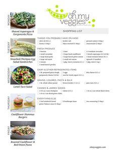 This Weeks Meatless Meal Plan