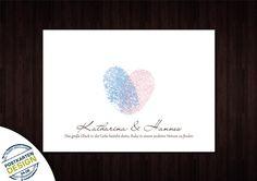 25 Danksagungskarten + Umschläge // personalisiert von postkartendesign24-de auf DaWanda.com