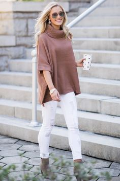 Sipping Cider By The Fire Toasted Mauve Sweater at reddressboutique.com