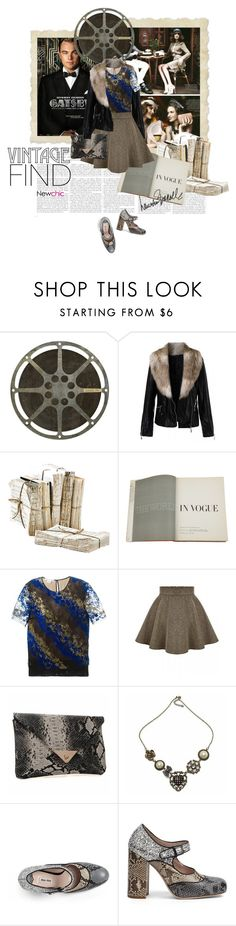 """""""Vintage Find"""" by lacas ❤ liked on Polyvore featuring Spicher and Company, Assouline Publishing, Antonio Berardi, Miu Miu, Lauren Ralph Lauren, vintage and newchic"""
