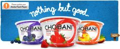 Chobani yogurt! High in protein and the newer flavors are oh so tasty!