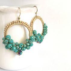Un preferito personale dal mio negozio Etsy https://www.etsy.com/it/listing/563540967/earrings-drops-of-color-crochet-earrings