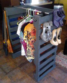 Dressing et rangement chaussure en palettes
