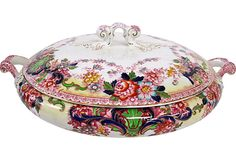 Antique English Covered Dish