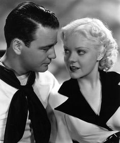 """Lew Ayres and Alice Faye, """"She Learned About Sailors"""" 1934 Old Hollywood Movies, Old Hollywood Glamour, Hollywood Actor, Hollywood Stars, Classic Hollywood, Hollywood Actresses, Katharine Hepburn, Audrey Hepburn, Lew Ayres"""