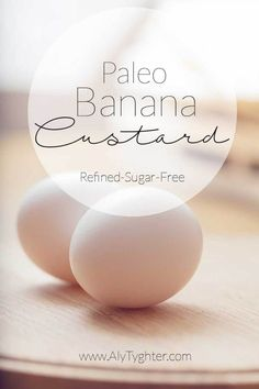 This amazing Toddler approved Paleo Banana Custard is refined sugar-free and 21 Day Fix Approved (1/2 Yellow – 2 Purple – 1 Red – 3 tsp for the WHOLE THING). This also doubles as an amazing Whole30 breakfast or SWYPO dessert... maybe we can call it Paleo Pudding for the kids. Who doesn't love Healthy Sweet Treats?